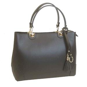 Handväska italienskt skinn svart SAC