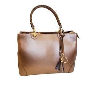 Handväska italienskt skinn champange SAC