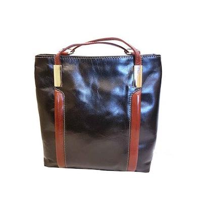 Ryggsäck kombi skinn svart brun SAC 41237