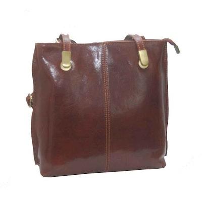 Ryggsäck kombi skinn brun SAC 41228