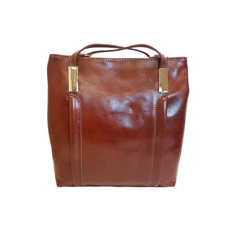 Ryggsäck kombi skinn brun SAC 41237