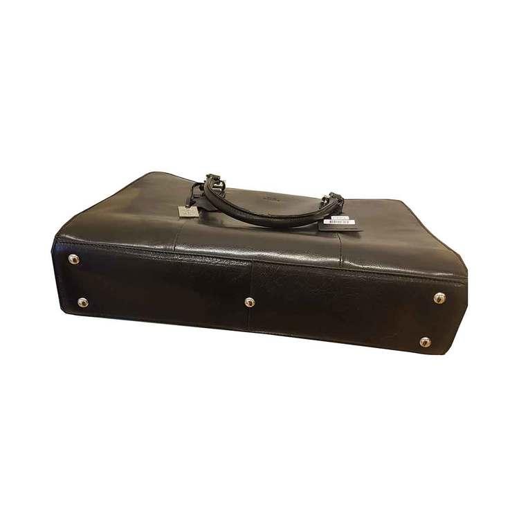 Handväska skinn svart The Monte 51067 botten