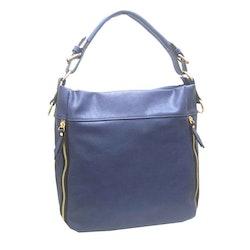 Handväska påsmodell blå pu S.A.C 5132900