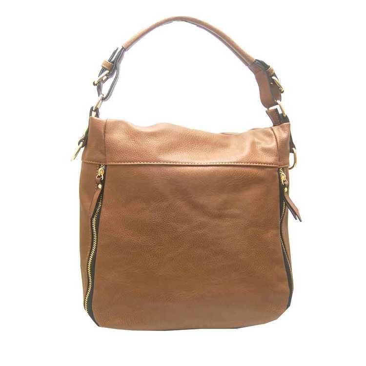 Handväska påsmodell brun pu S.A.C 5132900