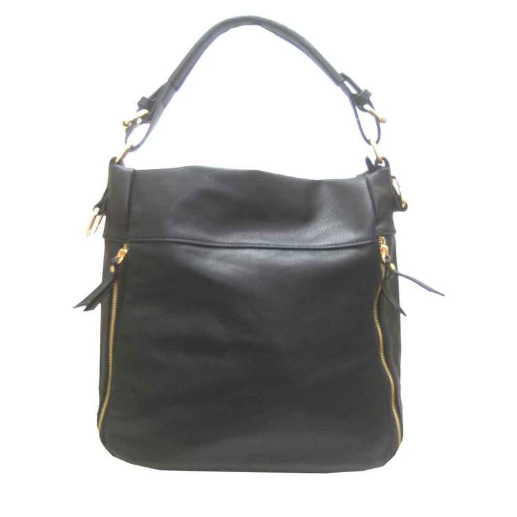 Handväska påsmodell svart pu S.A.C 5132900