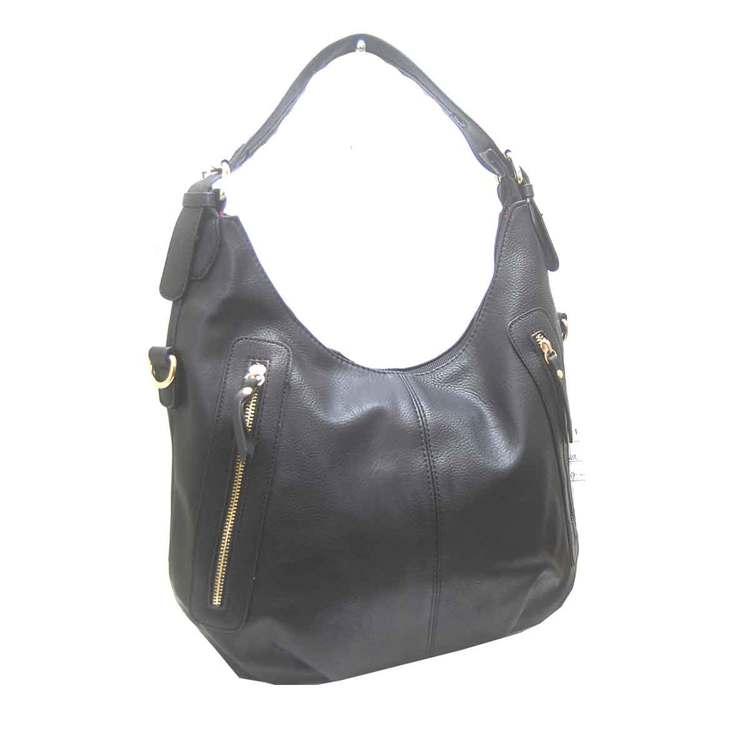 Handväska påsmodell svart fläta pu S.A.C 5133100