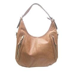 Handväska påsmodell brun fläta pu S.A.C 5133100