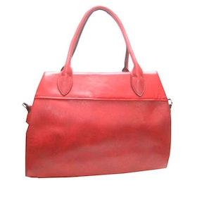Handväska röd konstskinn S.A.C 5133700