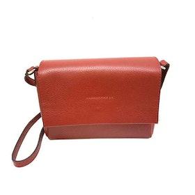 Axelväska lock skinn röd S.A.C 4122137