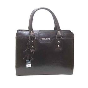 Handväska skinn brun The Monte 51136