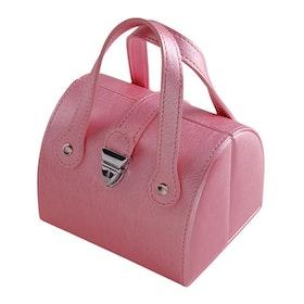 Smyckeskrin rosa skinnimitation