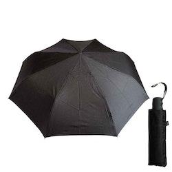 Paraply svart hopfällbart