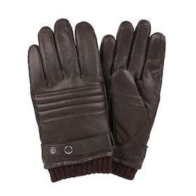 Handskar herr skinn brun med sleif
