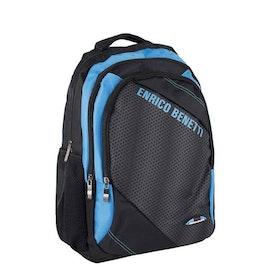 Ryggsäck tyg svart-blå Bonaire Enrico Benetti