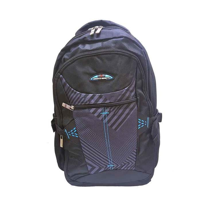 Ryggsäck tyg svartblå Bonaire Enrico Benetti