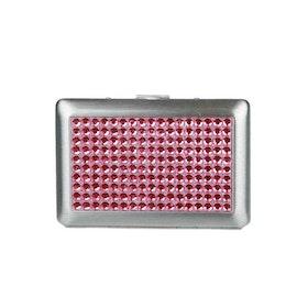 Kortfodral metall rosa stenar Dyffy