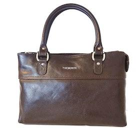 Handväska skinn brun The Monte 52445