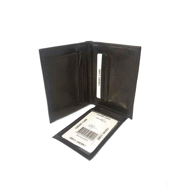 Plånbok konstskinn svart
