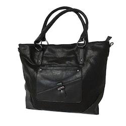 Handväska PU svart S.A.C 5142500