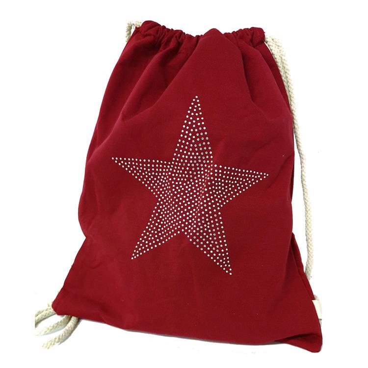 Ryggsäck säck röd tyg S.A.C 5139800