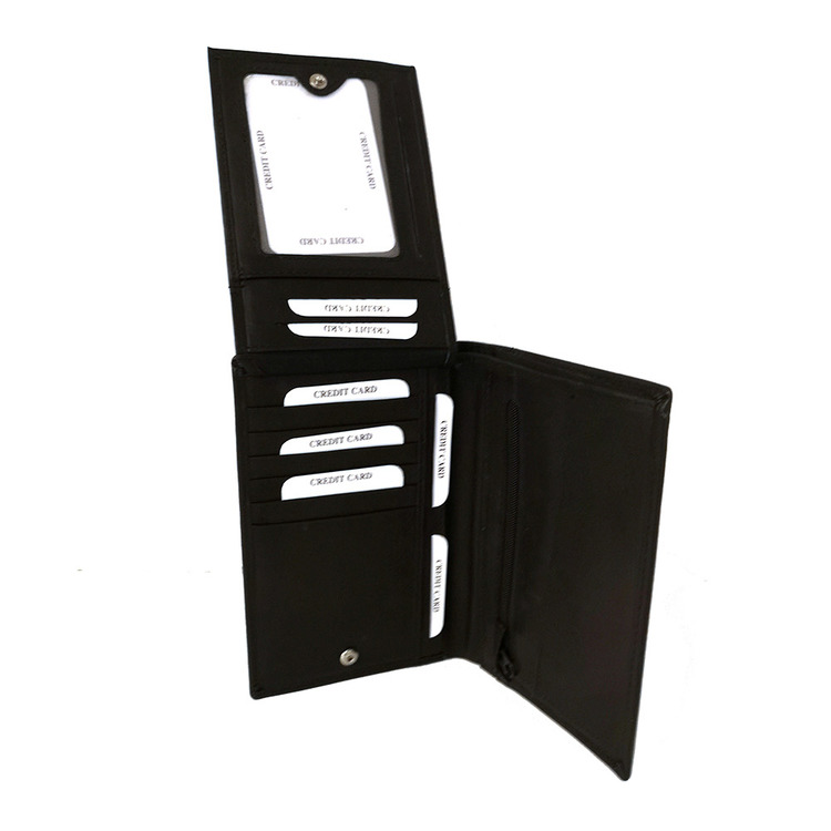 Plånbok skinn svart SAC 6820810