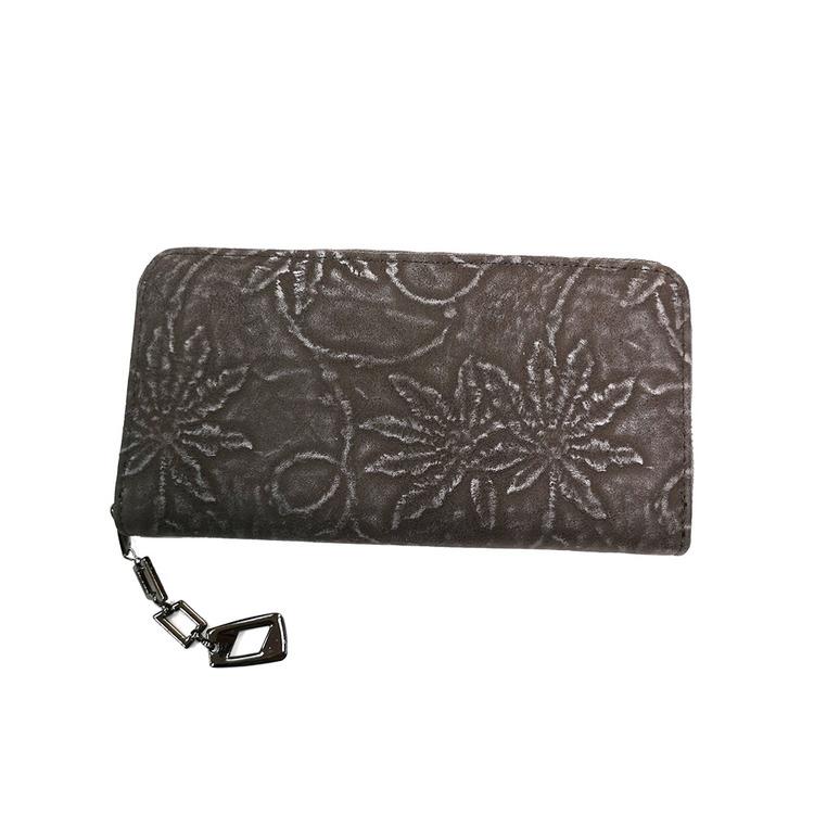 Plånboksväska i konstskinn blommig SAC