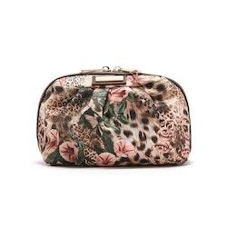Sminkväska Donatella leopard o blommor JJDK