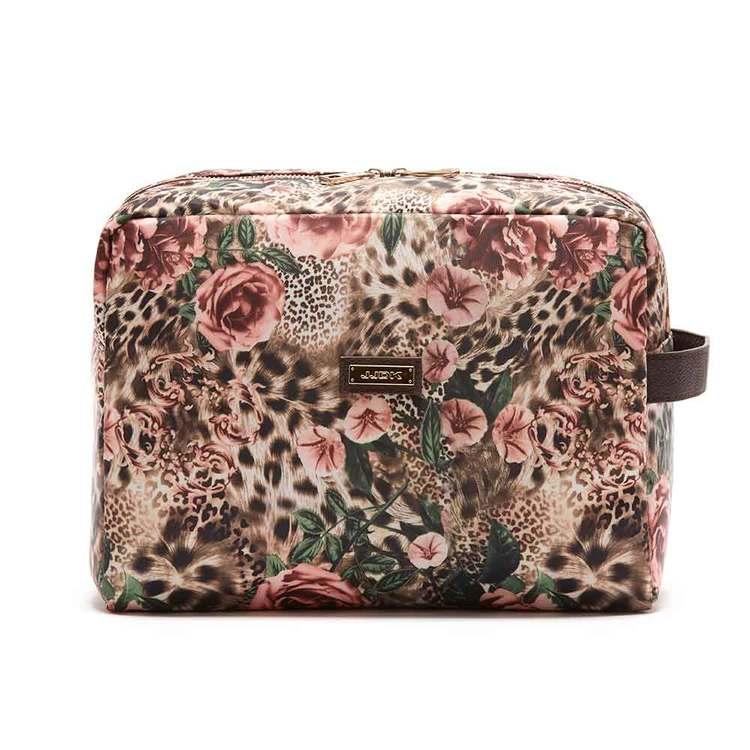 Necessär Donatella leopard o blommor JJDK - Bags4Fun.se 3af3d7801b7c1