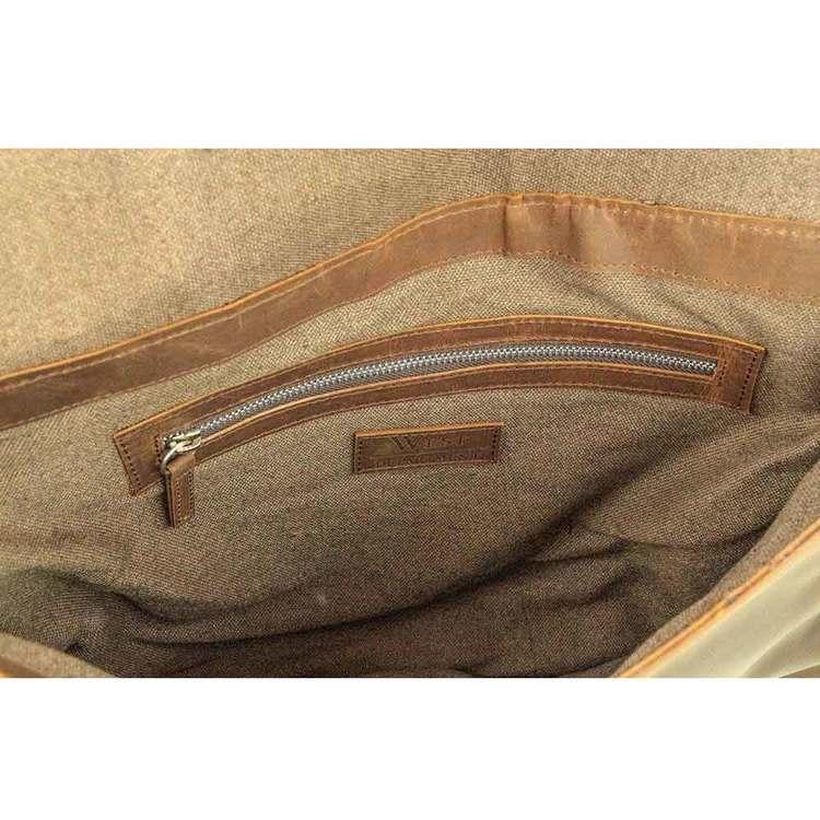 Laptopväska med lock skinn West Department