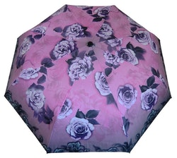 Paraply hopfällbart dam lila blommor