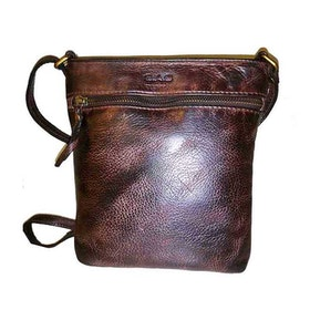 Axelväska skinn washed brun SAC 4500225