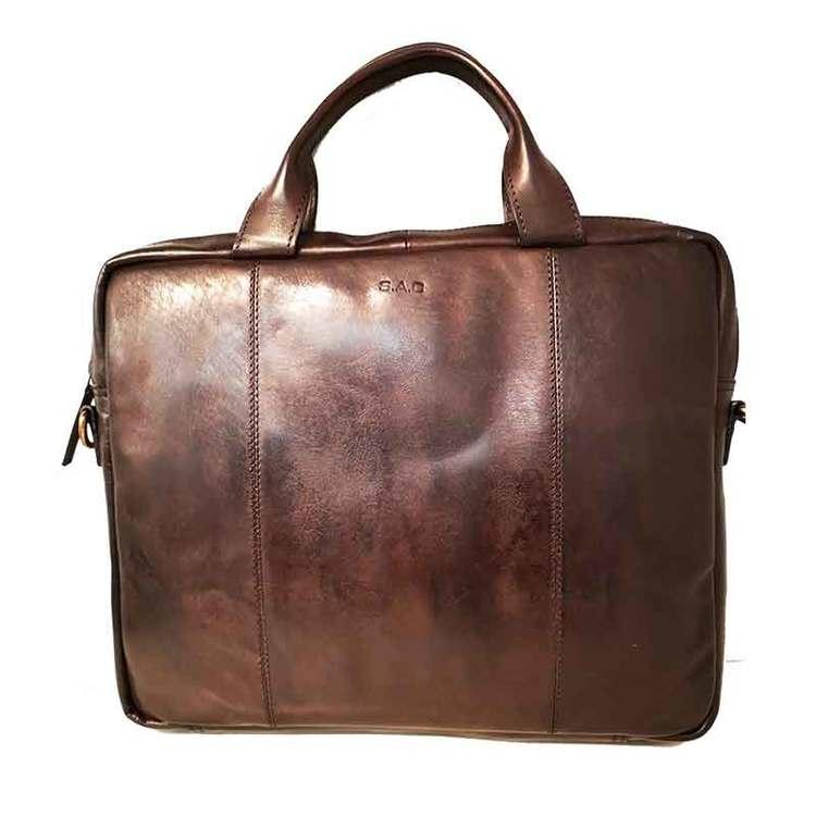 Datorväska skinn washed brun SAC 4501220