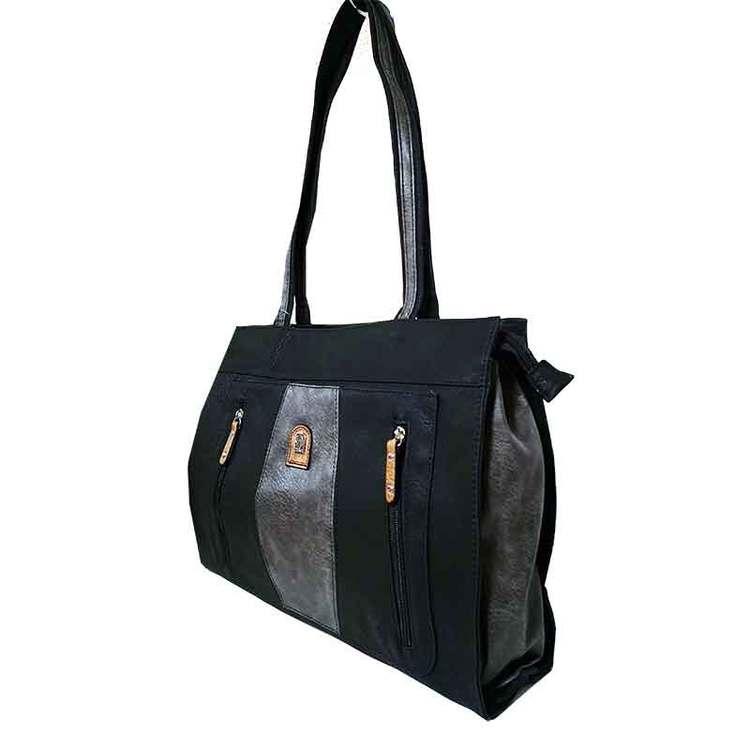 Kasse PU svart grå S.A.C 5143200