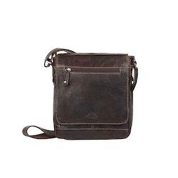 Axelväska lock skinn brun The Monte 55051