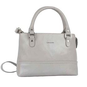 Handväska skinn grå The Monte 52542