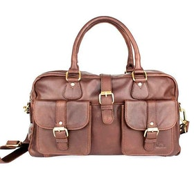 Bag skinn cognac The Monte 58041