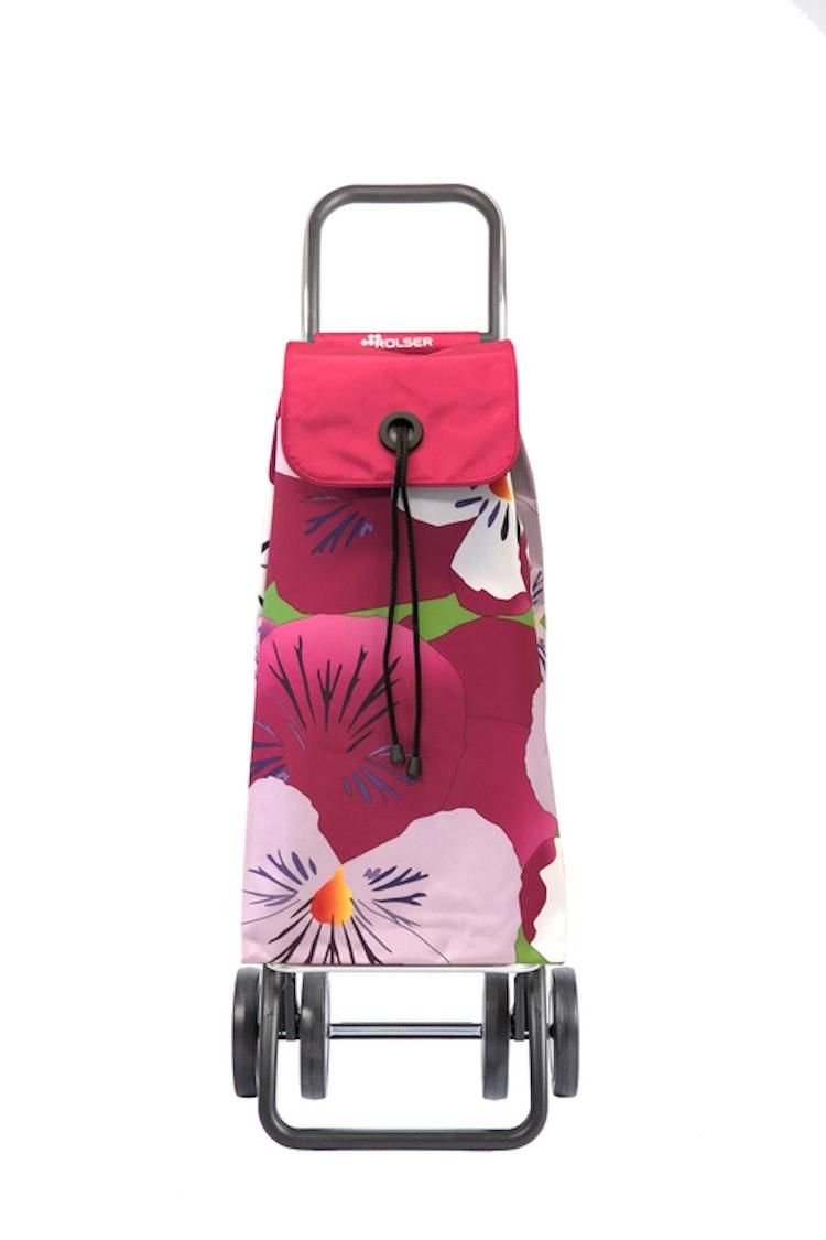 Shoppingvagn Rolser 2+2 Logic Imax Taku vinröd bassi