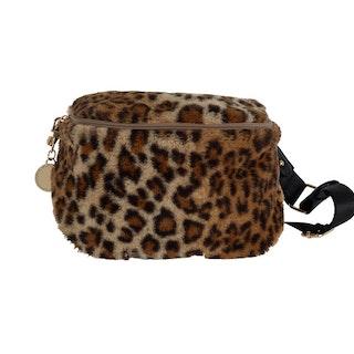 Fluffig midjeväska leopard Ulrika