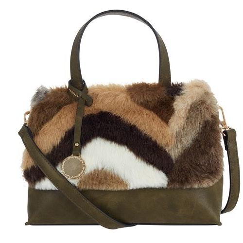 Handväska Zick Zack grön Ulrika Design