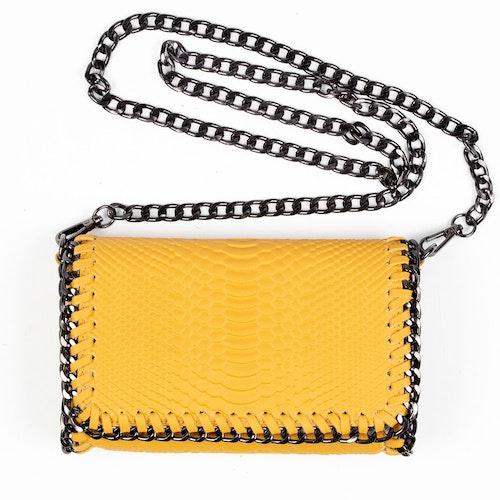 Chainbag gul med kedja Alexis från NYPD