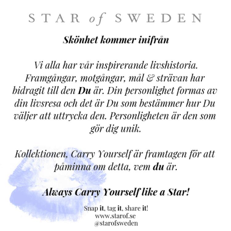 Star of Sweden ring i silver med blå sten