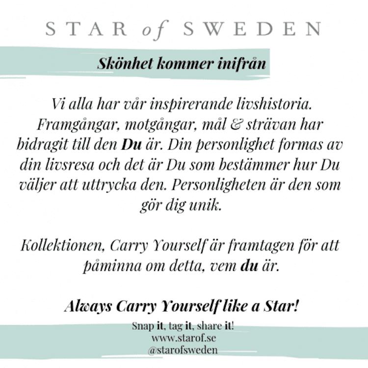 Star of Sweden ring i silver med grön sten
