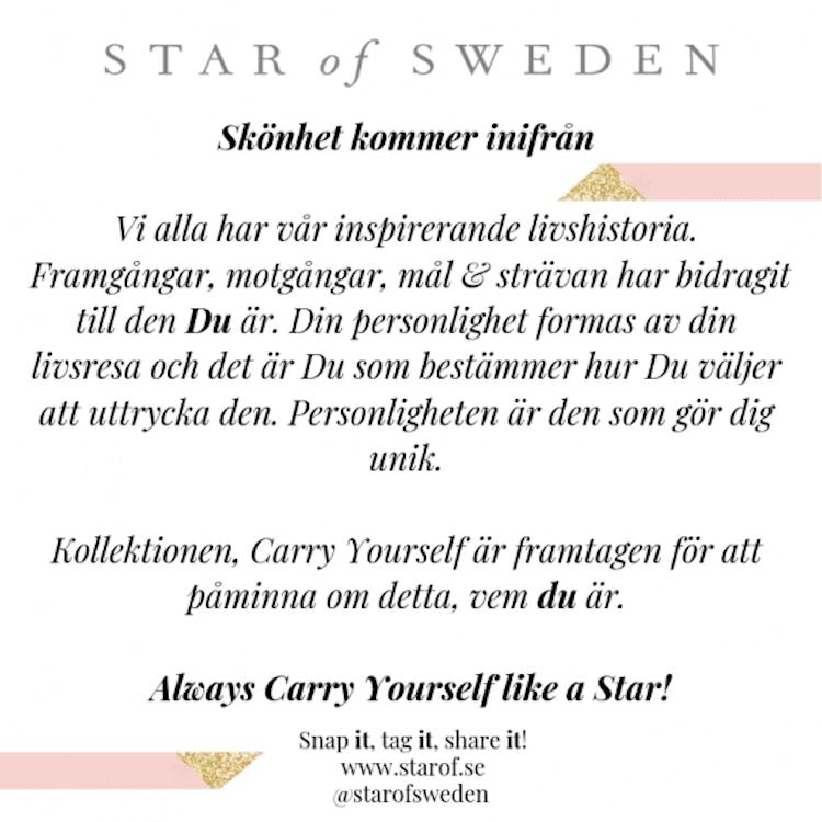 Star of Sweden ring i silver med rosa sten