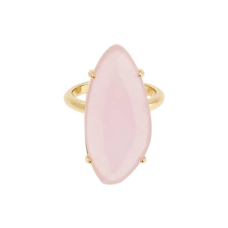 ring med rosa sten