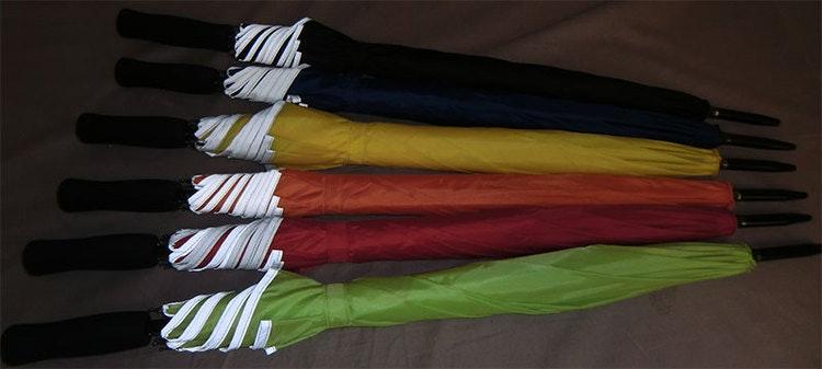 Långt Paraply med Reflexkant Reflex