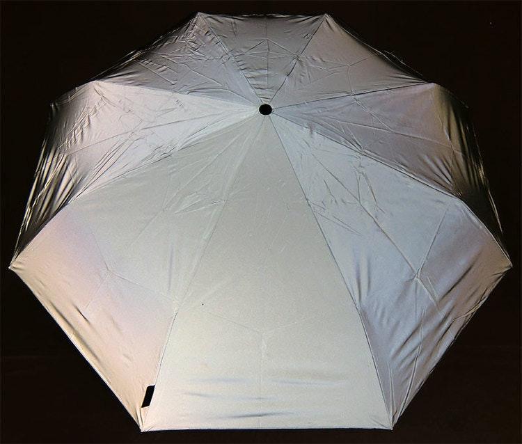 Paraply helreflex kort hopfällbar reflekterande reflex reflekterande paraply Reflexparaply Reflekterande paraply i reflextyg
