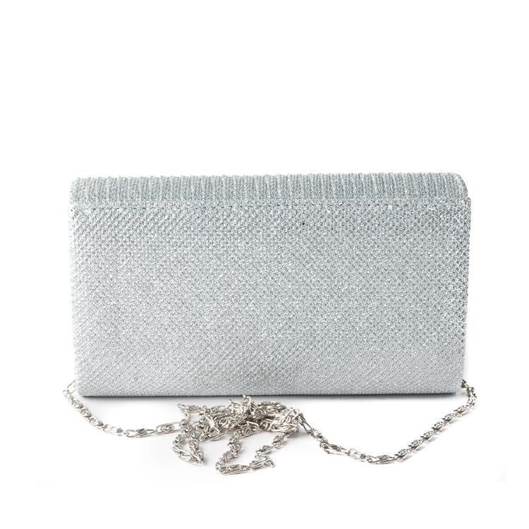 Glittrande väska silver
