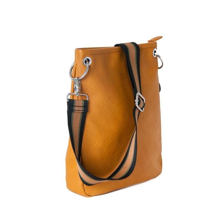 Crossbag gul i PU-läder/konstskinn från Rosenvinge