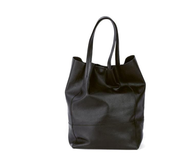 Axelväska Shopper svart skinn läder NYPD