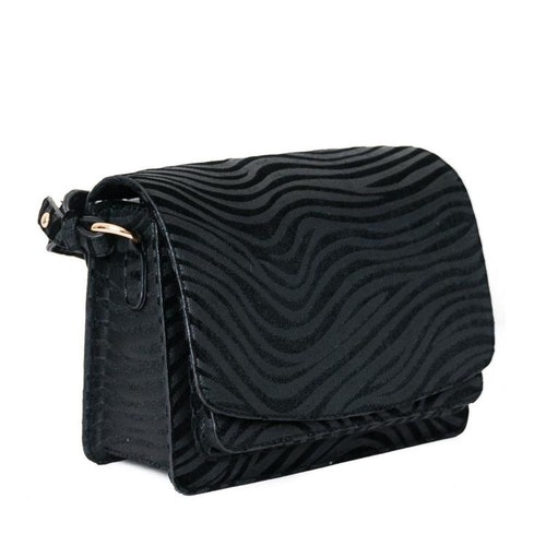 Axelremsväska zebra svart 640700